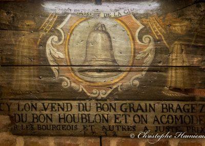 Enseigne de la Brasserie La Cloche