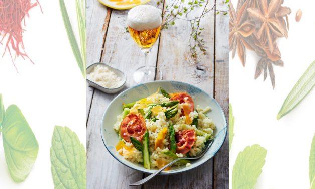 Bière de printemps et Risotto aux asperges, Mimolette Extra Vieille et Pancetta
