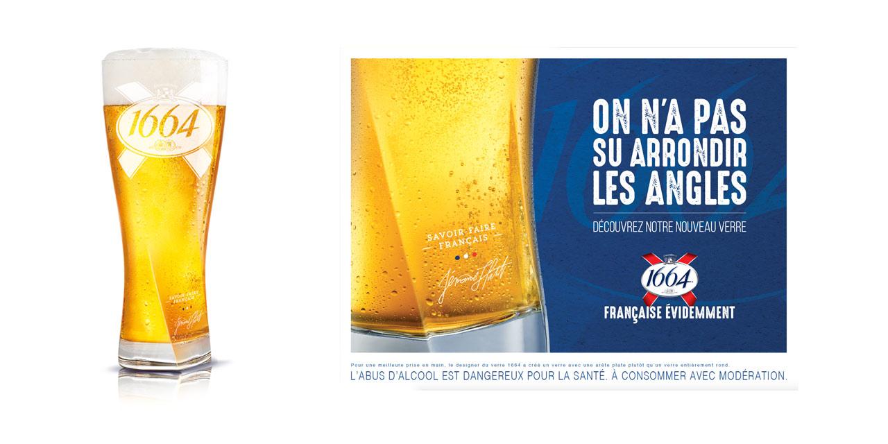 La bière 1664 retravaille son verre et son image
