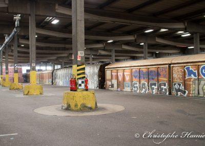 Les trains pour livrer les centres de distribution