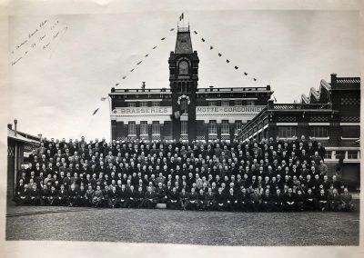 1938, le banquet du personnel autour de René Motte