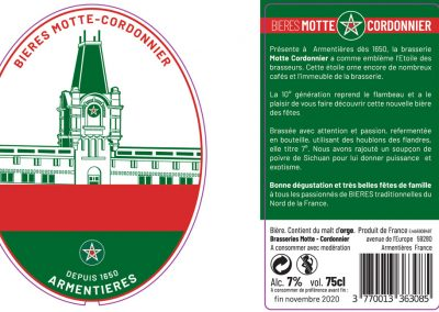 La bière de Noël de la Brasserie Motte-Cordonnier