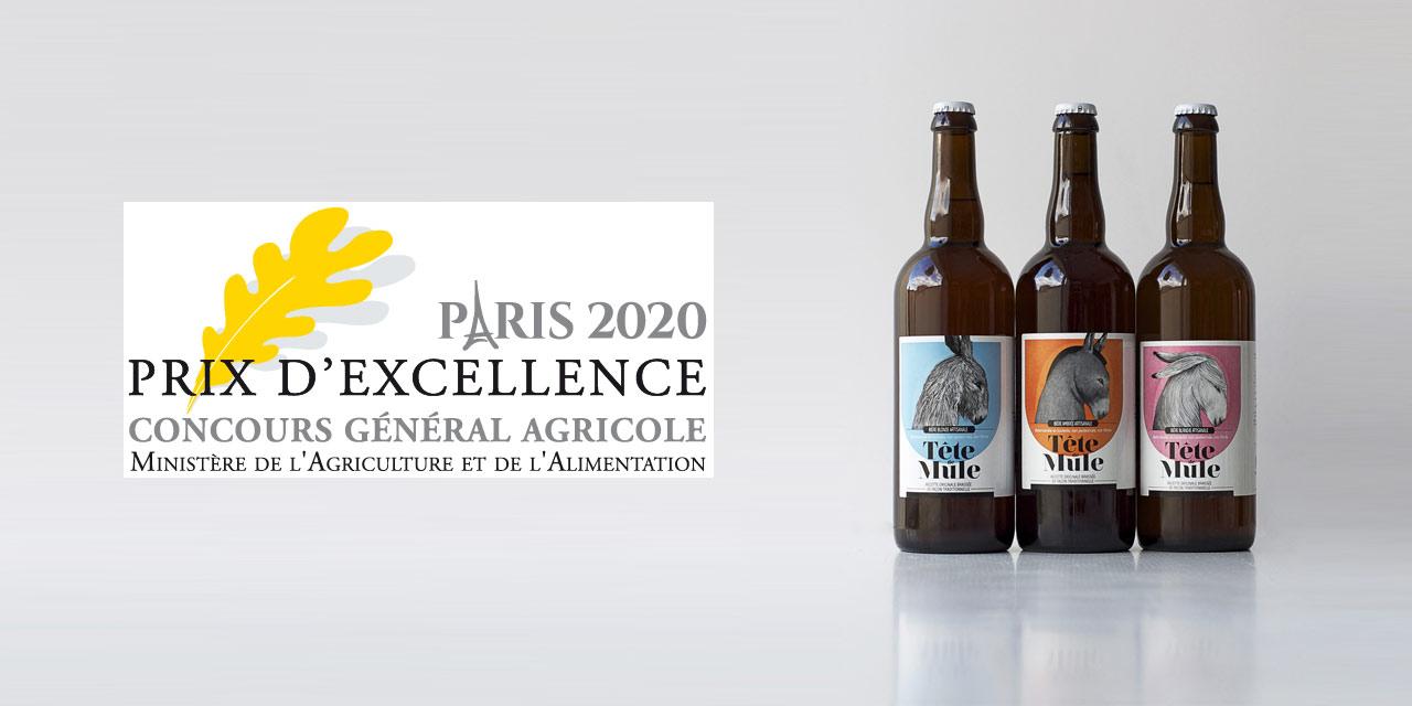 La Brasserie du Marais Prix d'Excellence du Concours Général Agricole