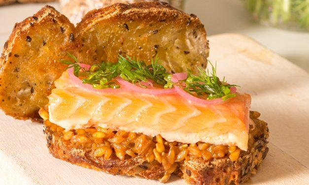Le sandwich céréales à la bière et saumon de Florian Barbarot