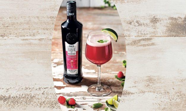 Cocktail bière Amer Fleur de Bière Framboise
