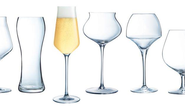 Cyril Hubert met en bière les verres Chef&Sommelier et Arcoroc
