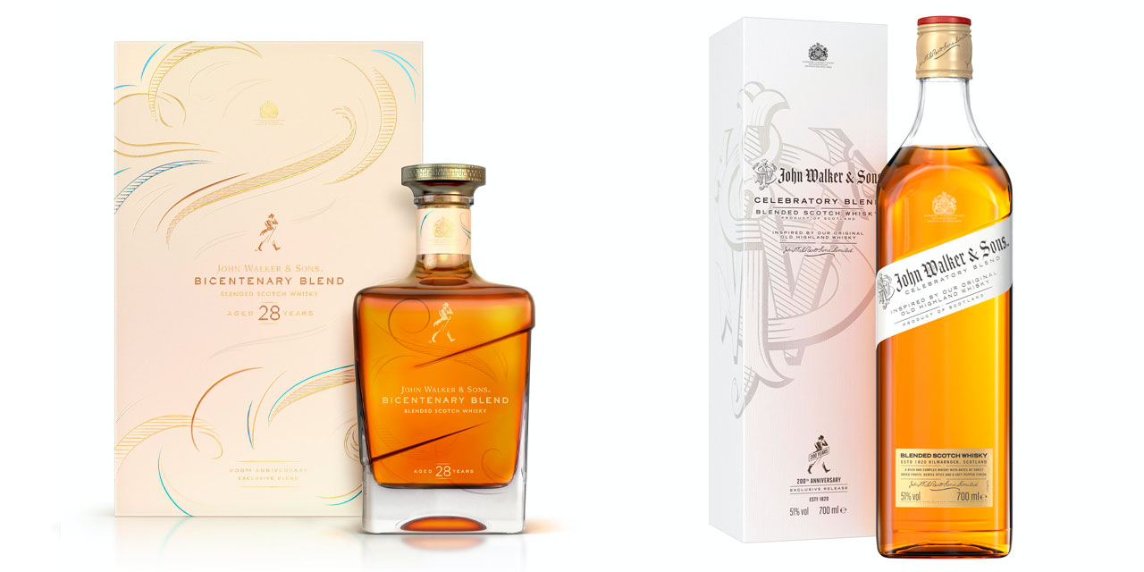 Johnnie Walker Bicentenary et Celebratory BlendJohnnie Walker Bicentenary et Celebratory Blend