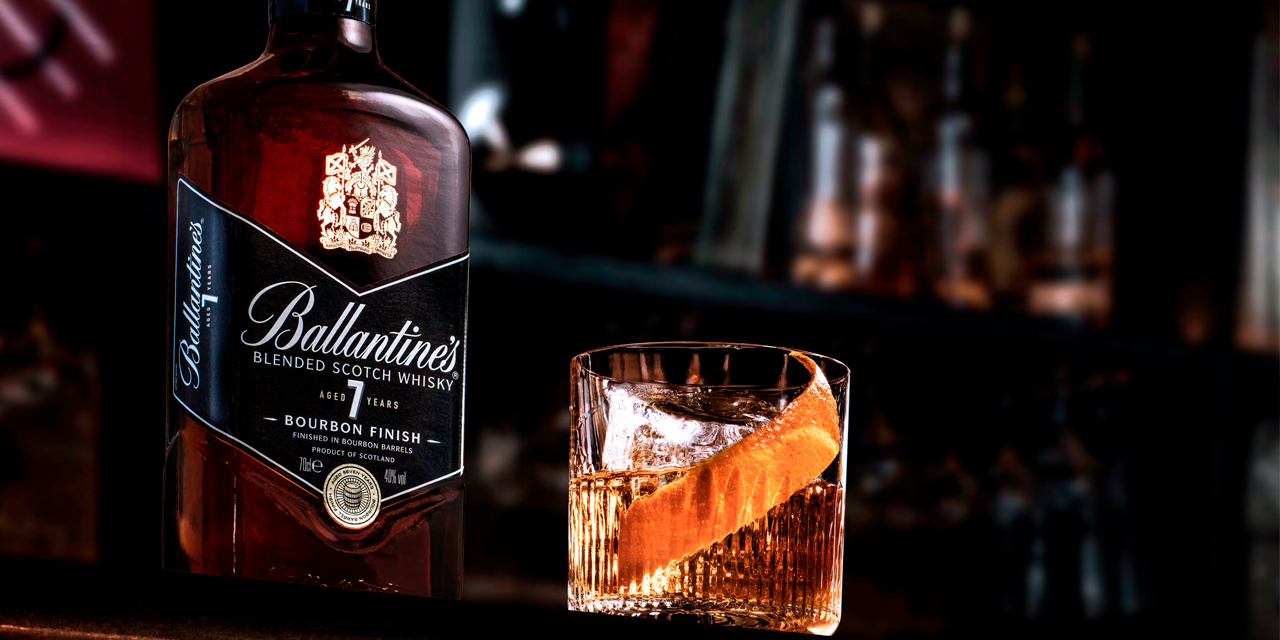 Ballantine's 7 ans Bourbon Finish, pour une Scottish Touch à un Old Fashioned !