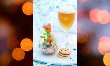 Tartare de langoustines et bière de Noël