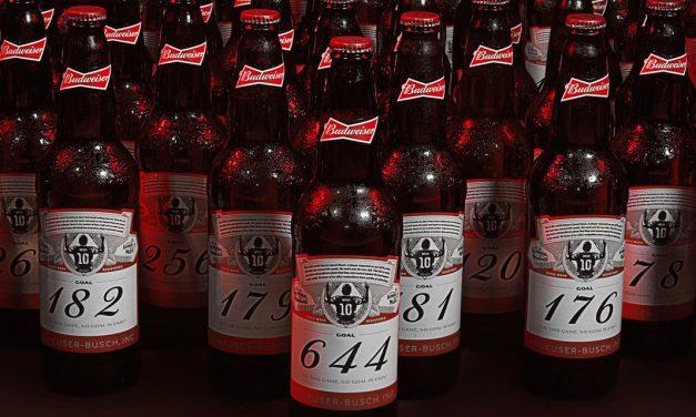 Budweiser envoie 644 bouteilles numérotées au 160 gardiens de but victimes de Messi !