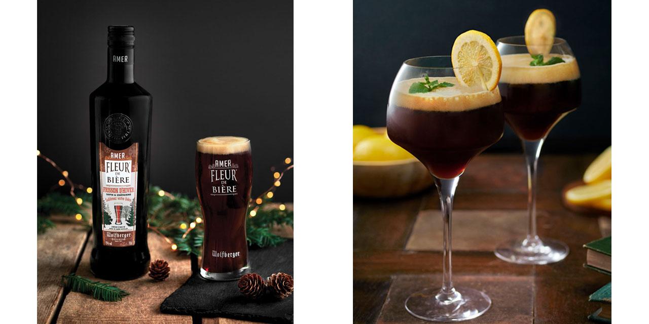 Cocktail à l'Amer Fleur de Bière Frisson d'hiver
