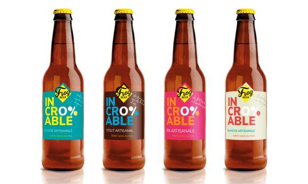 FrogBeer lance Incroyable, sa 1ère gamme de bière sans alcool