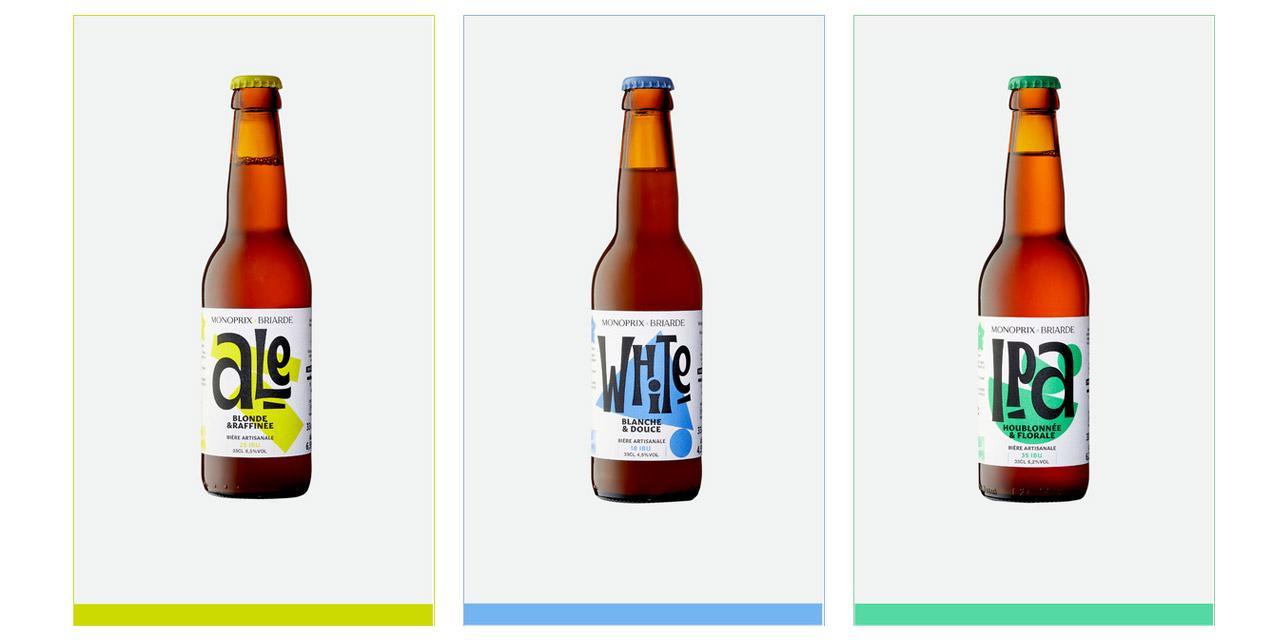 L'enseigne Monoprix lance sa marque de bière artisanale: Monoprix x Briarde