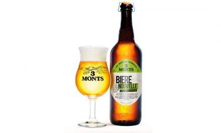La Bière Nouvelle de la Brasserie 3 Monts aux houblons maison