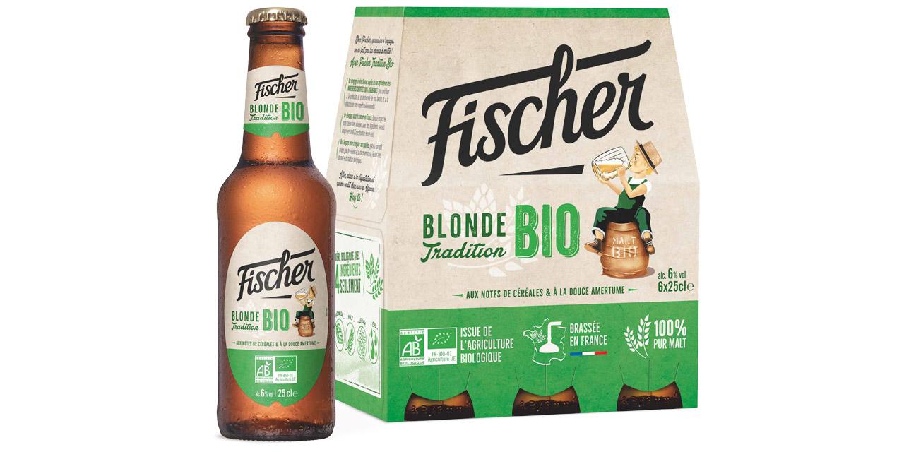 La marque alsacienne Fischer lance sa blonde Tradition Bio