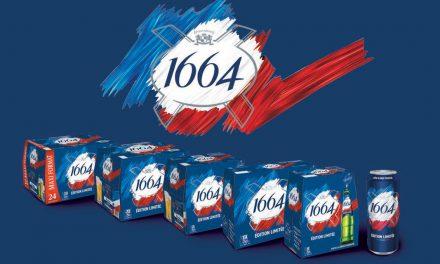 La 1664 en Bleu, en  blanc et en rouge pour l'été