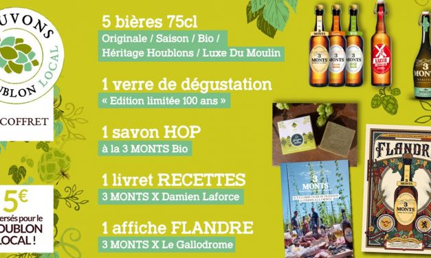 Le coffret #SauvonsleHoublon de la brasserie 3 Monts