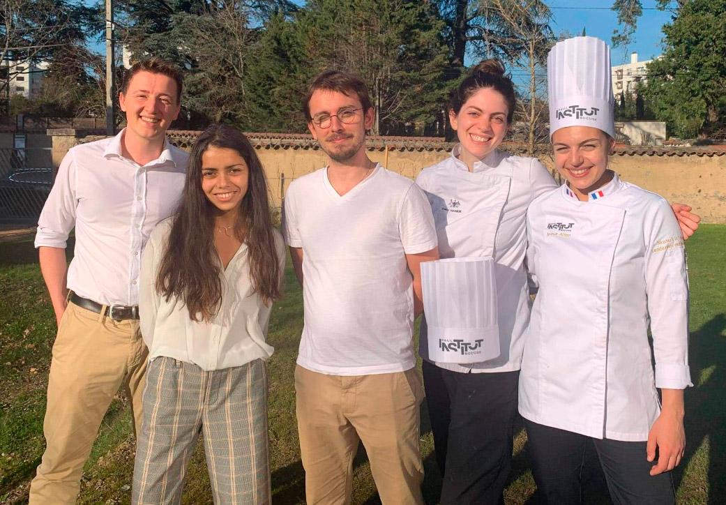 Equipe du pop-up restaurant de l'Institut Paul Bocuse en 2020