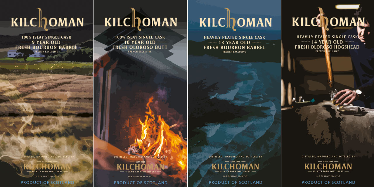 Etuits Kilchoman Single Casks exclusifs France
